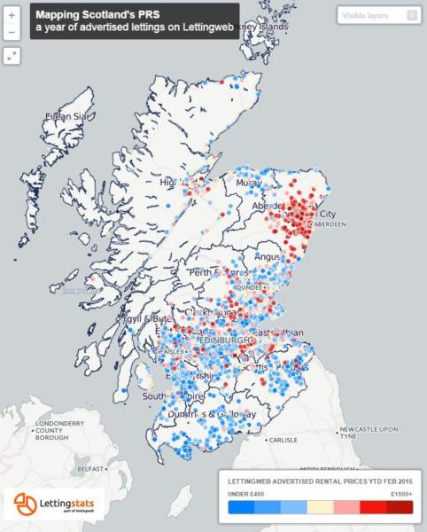 Individual rental properties across Scotland. Picture: Lettingweb